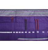 Image of Della Q Straight Needles Roll Case 151-1, 18 Purple Stripe