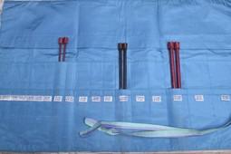 Image of Della Q Straight Needles Roll Case 151-1, 23 Ocean Stripe