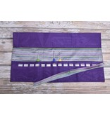 Image of Della Q Crochet Hook Roll Case 168-2, 18 Purple Stripe