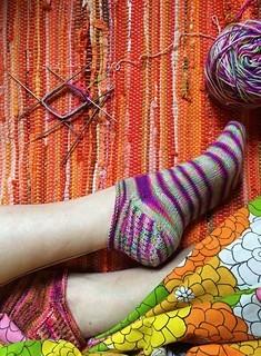 "Magic Loop Socks ""Rose City Rollers,"" Friday, August 11;  1:00-3:00PM"