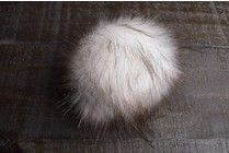 Faux Fur Pom Pom White Fox
