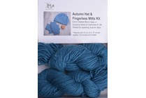 Autumn Hat & Fingerless Mitts Kit Lhasa 7 Teal