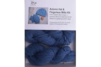 Autumn Hat & Fingerless Mitts Kit Lhasa 6 Dusk