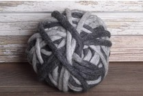 Love Fest Fibers Tough Love, 50 yard, Charcoal + Heather