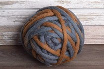 Love Fest Fibers Tough Love, 50 yard, Blue Jean + Walnut