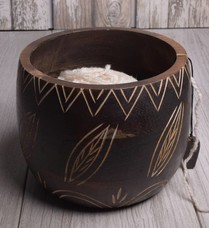 Image of Knitter's Pride Yarn Bowl Leafy
