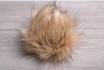 Faux Fur Pom Pom Golden Lynx