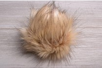 Image of Faux Fur Pom Pom Golden Lynx