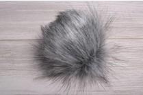 Faux Fur Pom Pom Silver Fox II
