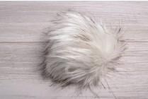 Faux Fur Pom Pom Snowy Owl