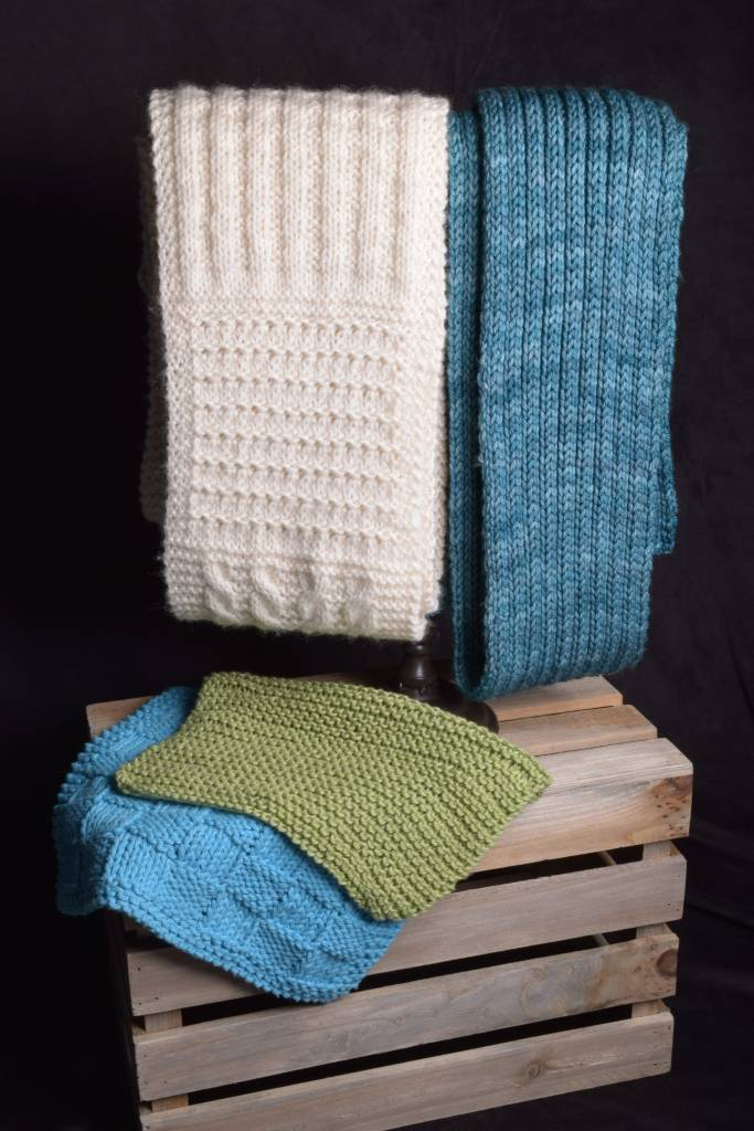 Adult Knitting 101 Wash Cloths & Scarf, Sunday, February 4,11,18,25; 11:00-1:00PM