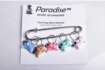 Image of Paradise Charming Stitch Markers Dogs