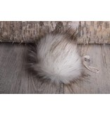 Faux Fur Pom Pom White Fox