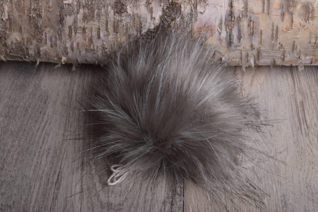 Image of Faux Fur Pom Pom Silver Fox