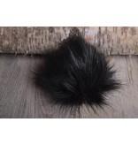 Faux Fur Pom Pom Black Bear