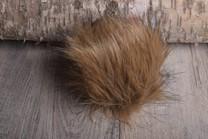 Image of Faux Fur Pom Pom Brown Wolf