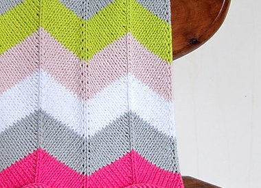 Wool & Co. Feature Pattern of the Week - Chevron Baby Blanket