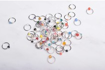 Image of Suann Stitches Beaded Ring Stitch Markers, 10 ct.