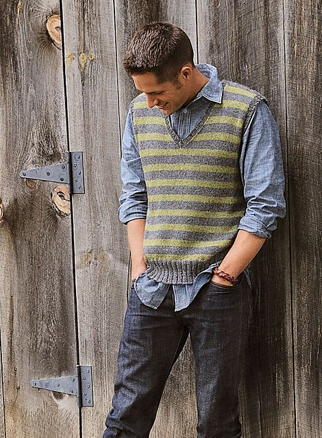 Wool & Co. Feature Pattern of the Week - Men's Striped Vest