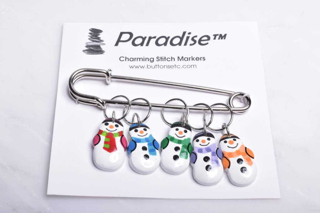 Image of Paradise Charming Stitch Markers Snowman