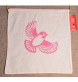 Image of Pretty Cheep Project Bag, Sparrow (Pink)