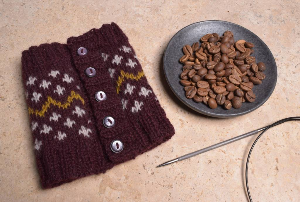 Steeked Coffee Cozy Class, Wednesday, June 27, July 11;  6:00-8:00PM