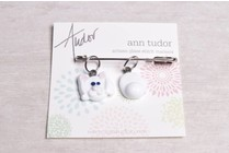 Image of Ann Tudor Stitch Markers, Bunny Head & Tail, Small