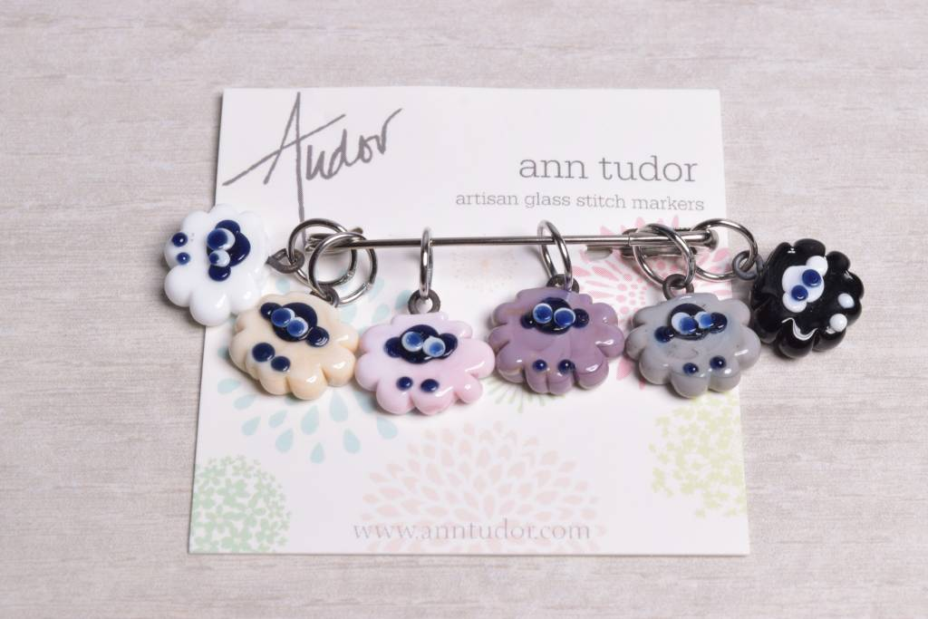 Image of Ann Tudor Stitch Markers, Sheep Flock Soft Neutrals, Small