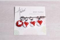 Image of Ann Tudor Stitch Markers, Hearts, Small