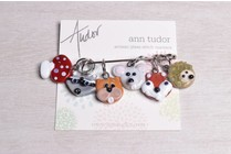 Image of Ann Tudor Stitch Markers, Woodland Animals, Small