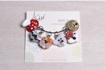 Image of Ann Tudor Stitch Markers, Woodland Animals, Extra Small