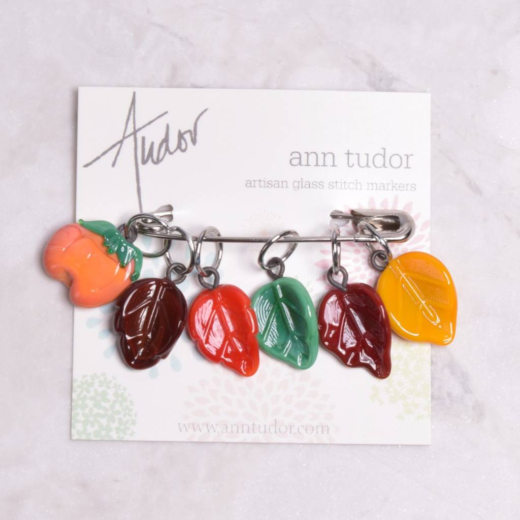 Image of Ann Tudor Stitch Markers, Autumn Leaves, Small