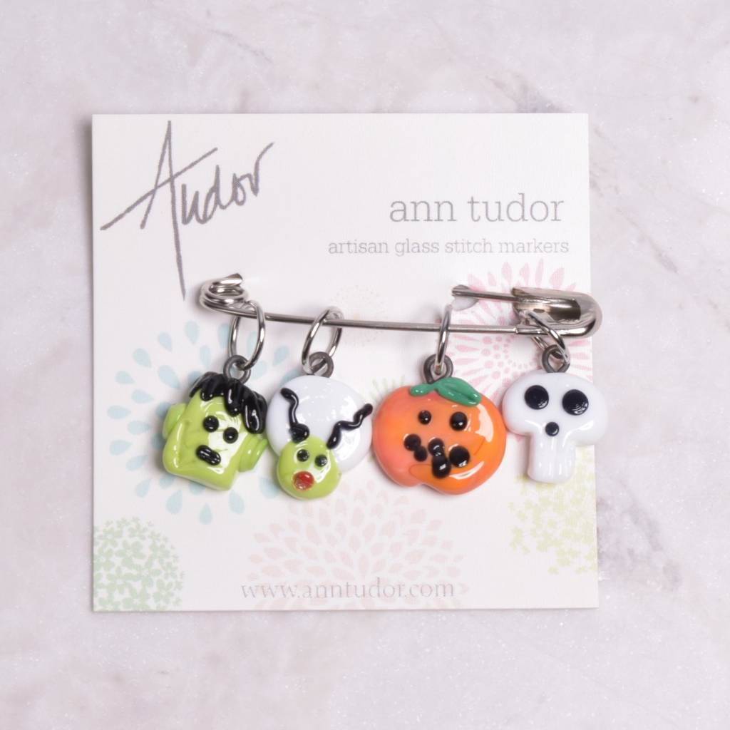 Image of Ann Tudor Stitch Markers, Frankenstein Halloween, Small