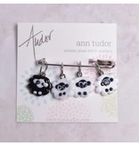 Image of Ann Tudor Stitch Markers, Black Sheep, Small