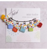 Image of Ann Tudor Stitch Markers, Cupcakes, Extra Small