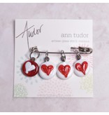 Image of Ann Tudor Stitch Markers, Hearts, Small