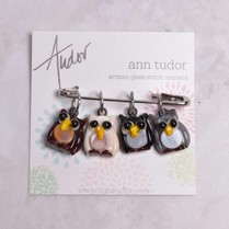 Image of Ann Tudor Stitch Markers, Owls, Small