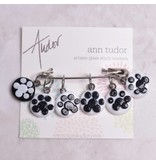 Image of Ann Tudor Stitch Markers, Paw Prints, Small