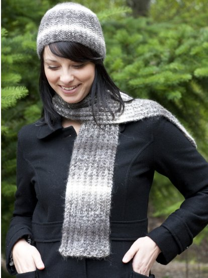Wool Co Feature Pattern Of The Week Magic Rib Hat Scarf
