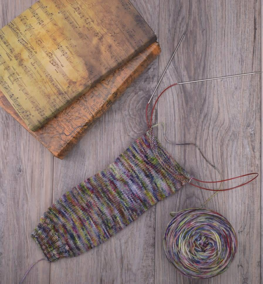 Image of Cuff Down, Magic Loop Socks, Thursday, September 13, 27, October 4, 18;  12:00-2:00PM