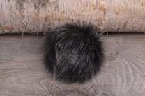 Image of Faux Fur Pom Pom Black Wolf