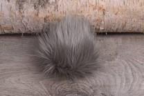 Image of Faux Fur Pom Pom Grey Sky