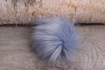 Image of Faux Fur Pom Pom Blue Lavender