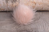 Image of Faux Fur Pom Pom Pastel Pink