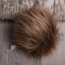 Image of Faux Fur Pom Pom Caramel Mink