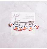 Image of Ann Tudor Stitch Markers, Snowmen, Small