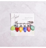Image of Ann Tudor Stitch Markers, Holiday Lights, Small