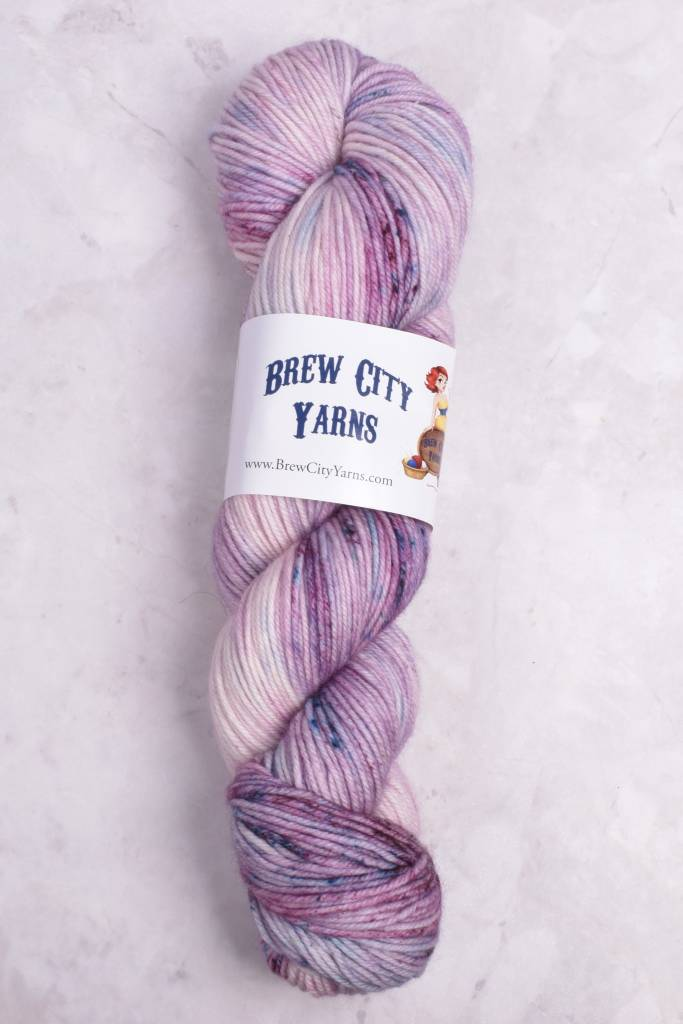 Image of Brew City Yarns Impish DK Wine in a Sippy Cup