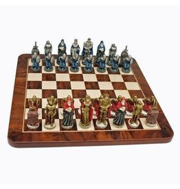 WOOD EXPRESSIONS KING ARTHUR CHESSMEN