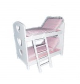 REGAL DOLL CARRIAGES DOLL BUNK BED WITH BEDDING*